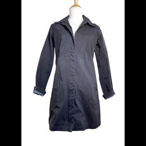 Patagonia long rain jacket with removable hood